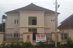 A tastefully finished 4-bedroom detached duplex with 1-room servant quarters at Vision Court Estate, Apo.