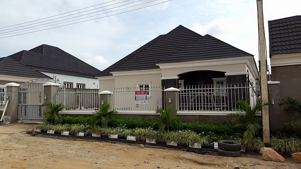 A tastefully finished brand new 4-bedroom bungalow with 2-bedroom flat bq